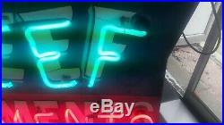 Original neon sign REEF APARTMENTS Wildwood NJ vintage neon mid-century design