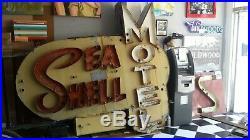 Original neon sign SEASHELL MOTEL Wildwood NJ vintage neon mid-century design