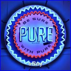 PURE Gasoline Vintage Look Car Garage Business Light Art Sign Neon Sign 24x24