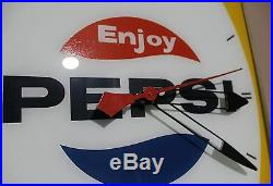 Pepsi clock vintage cola advertising sign neon ray canadian 1950s RARE