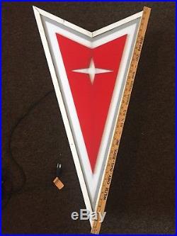 Pontiac Original Vintage Dealership NEON Sign Firebird Trans Am GM Rare
