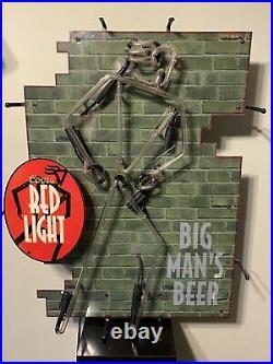 Postmodern Funky 1990s Vintage Coors Light Beer Bar Red Neon Sign 32