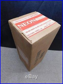 RARE NOS SEALED Oct 19, 1960 VOLTARC NEON Vtg Glass Neon Sign Tube Gas Flask
