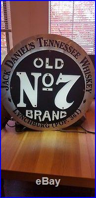 RARE Vintage Jack Daniels Old No 7 Light Up Neon Sign 23