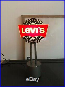RARE Vintage Levis advertising store sign neon sign, rotating works