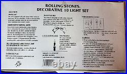 ROLLING STONES DECORATIVE 10 LIGHT SET Man Cave Neon Sign Party Lamp VINTAGE