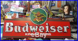 Rare! Anheuser Busch Vintage Budweiser King of Beers Neon Light Sign (READ)