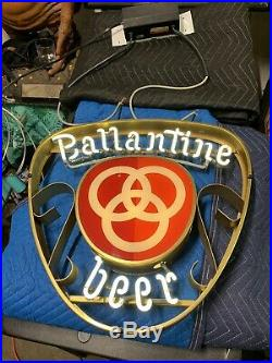 Rare Ballantine Beer Vintage Neon Sign