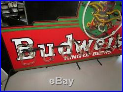 Rare Classic Vintage Budweiser Marquee Bud Neon Beer Bar Sign Light Man Cave Lot