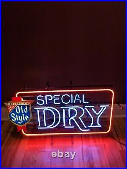 Rare Heilemans 30 Old Style Dry Beer Neon Light Sign Vintage Bar Advertising