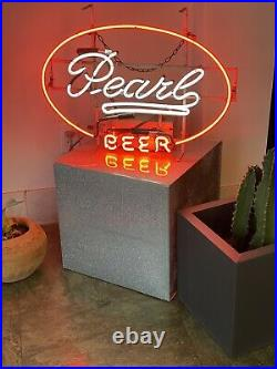 Rare PEARL BEER Neon Sign / Bar Light TEXAS Vintage Authentic