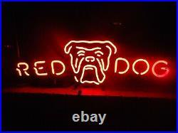 Rare Red Dog Beer Neon Light Sign Vintage