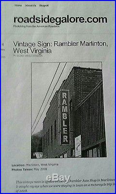 Rare Vintage 1950's RAMBLER car dealership double sided neon sign