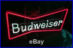 Rare Vintage Budweiser Bow Tie Neon Sign Anheuser Busch