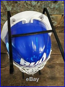 Rare Vintage NHL Bud Light Hockey Mask Beer Sign Neon