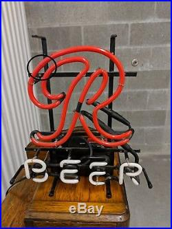 Rare Vintage Rainier beer R Neon bar sign, logo