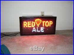 Rare Vintage Red Top Ale Neon Sign
