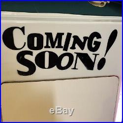 Rare Vintage SEGA Sonic The Hedgehog Coming Soon! Dry Erase Board Neon Sign