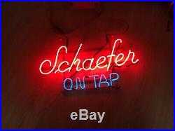 Rare Vintage Schaefer On Tap Beer Neon Sign