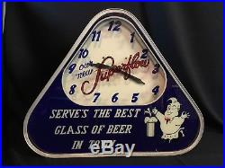 Rare Vintage Superflow Beer Advertising Neon Sign Clock / Super Flow
