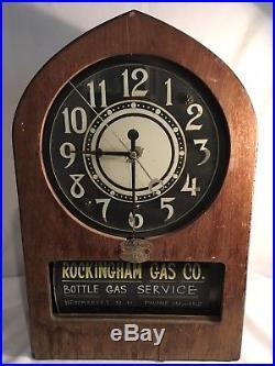 Rare Vintage Telechron Electric Ad Clock Company Neon Rotating Advertising Clock