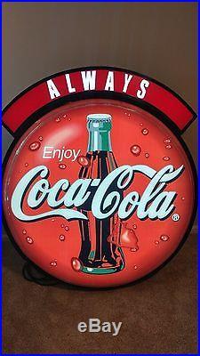 Rare vintage large neon coca cola sign