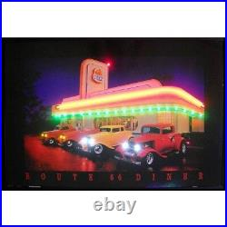 Route 66 Diner Neon Sign Led Picture 36x24