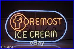 SPECIAL 1950's Vintage Foremost Ice Cream Neon Soda Fountain Dairy Sign Orig