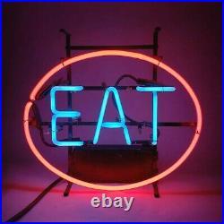 Scott & Fetzer Antique Neon Light Diner EAT Sign 1970 RARE 17W x 15T Vintage