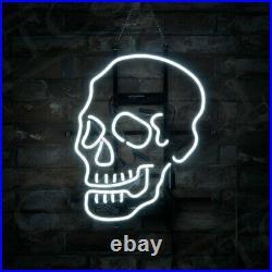 Skull Shape Vintage Boutique Beer Pub Neon Signs Store fy Artwork Gift 17x14