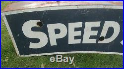 Speed Shop vintage neon sign can painted not porcelain garage mancave bar