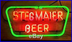 Stegmaier Neon Beer Sign Vintage RARE Wilkes Barre