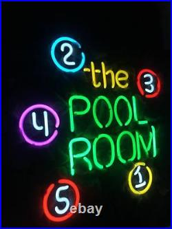 The POOL ROOM Boutique Beer Neon Sign Porcelain Gift Vintage Wall Store Custom