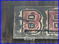UNIQUE OLD Sign Vintage NEON BEER Garage Mancave HoT RaT RoD Wall DeCor PATINA