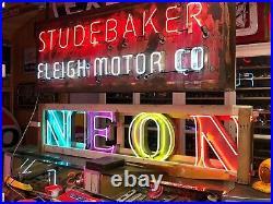 UNIQUE OLD Sign Vintage NEON Garage Mancave HoT RaT RoD WOW Wall DeCor LARGE
