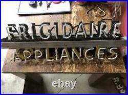 UNIQUE Original ArT DeCo Sign Vintage NEON FRIGIDAIRE APPLIANCES Wall DeCor OLD