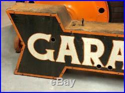 UNIQUE Vintage GARAGE Arrow NEON Sign DOUBLE SIDED Phillips 66 Gas Oil Car Truck