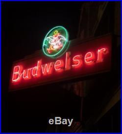 Ultra Rare vintage Budweiser V-9 neon sign