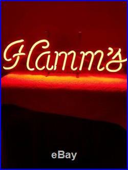 VINTAGE 1960s HAMMS BEER NEON BACK BAR SIGN
