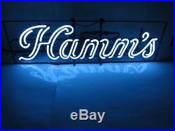 VINTAGE 1960s HAMM'S BEER NEON LIT BAR SIGN COOL BLUE