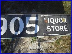 VINTAGE 905 LIQUOR PORCELIAN sign neon 16