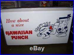 VINTAGE HAWAIIAN PUNCH SIGN Light PUNCHY Soda Pop Drink Beverage Ad Neon Hawaii