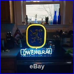 VINTAGE Lowenbrau Beer Bar Neon Light Sign