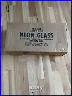 VINTAGE NEW IN BOX 1984 Strohs Beer Neon Sign Franceformer NOS