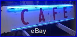 VINTAGE OLD Cafe NEON Sign, Porcelain Neon Cafe Sign