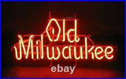 VINTAGE OLD MILWAUKEE NEON BEER BAR SIGN 25 x 14