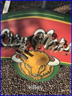 VINTAGE ORIGINAL ADVERTISING RESTAURANT CAFE SIGN Buffalo NY Nickel City Market
