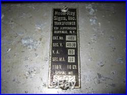 VTG 1930s ANTIQUE Neon Ray Signs BAR DINER MENU BOARD ADVERTISING HAMMOND CLOCK