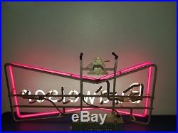 (VTG) 1950s BUDWEISER BEER BOW TIE NEON LIGHT UP SIGN ANHEUSER BUSCH RARE