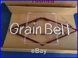 (VTG) 1960s grain belt beer neon light up bar sign mint & original box mn